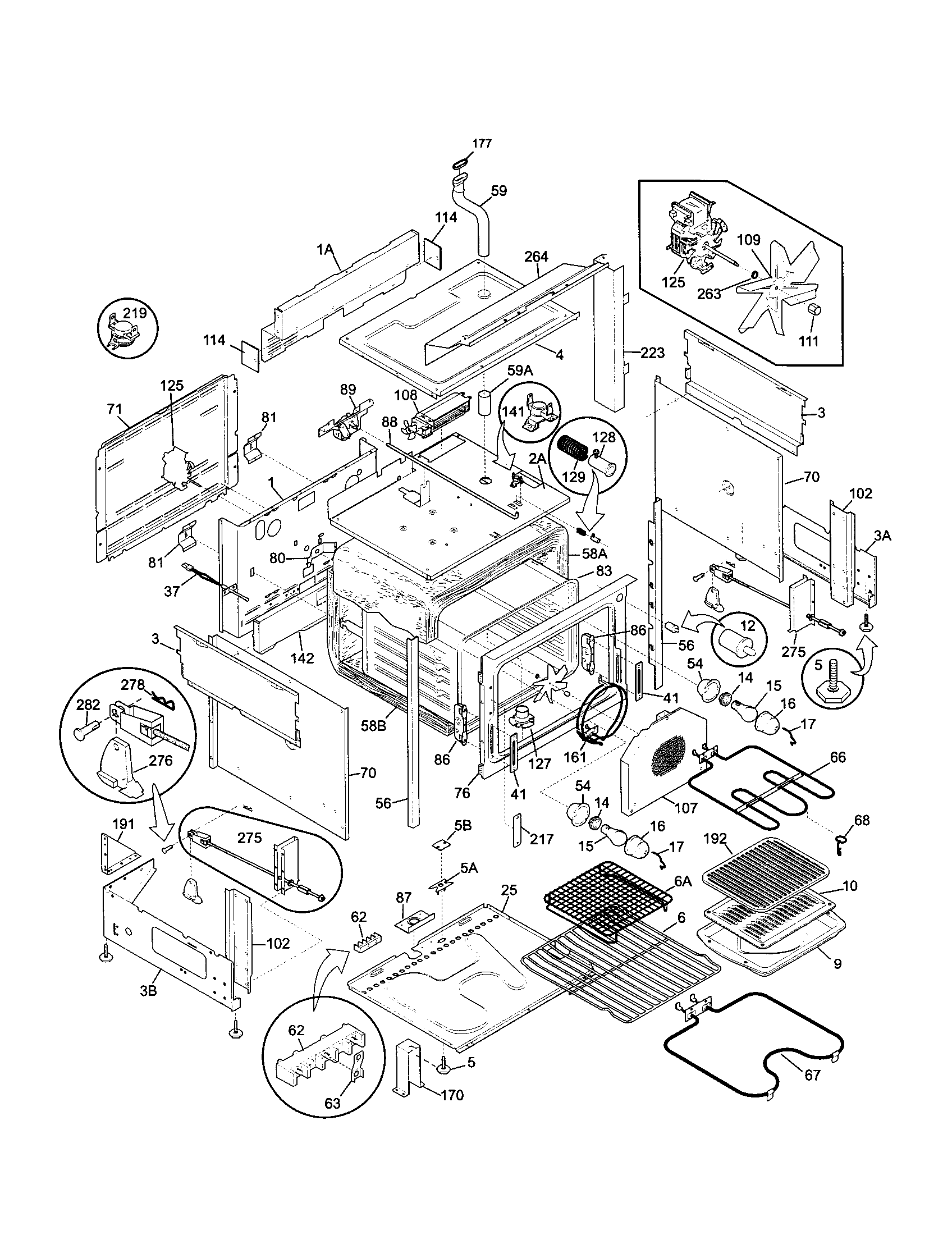 79046813992 elite dual fuel slide-in range body parts diagram