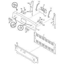 79095042503 Electric Range Backguard Parts diagram
