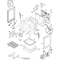 79095042503 Electric Range Body Parts diagram