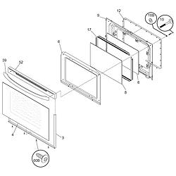 79095042503 Electric Range Door Parts diagram