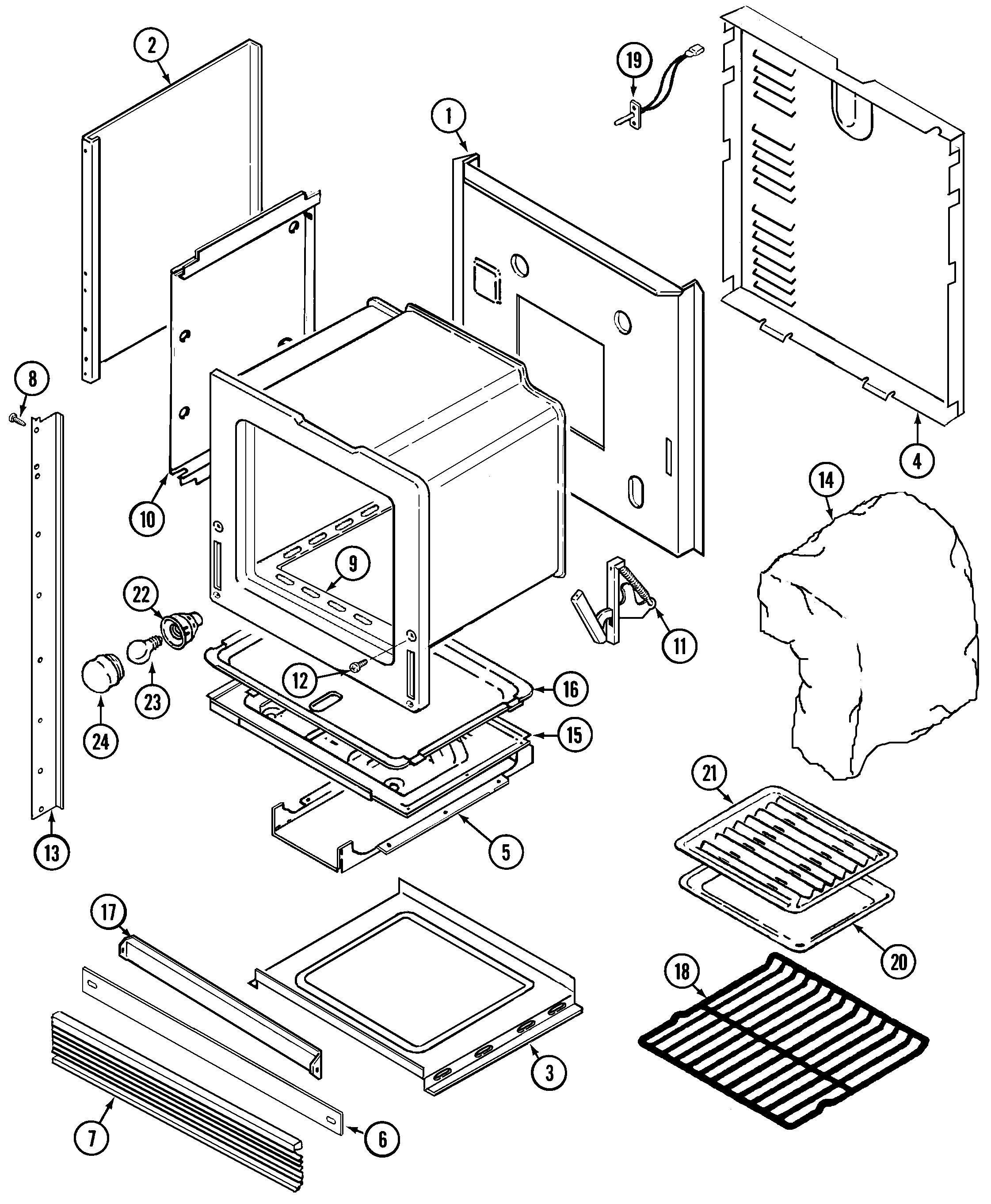 9475XVB Range Body Parts diagram