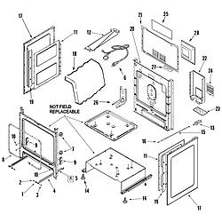 AGR5835QDQ Freestanding Gas Range Cabinet Parts diagram