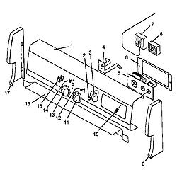 AGS761L Gas Range Backguard diagram