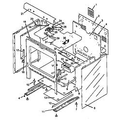 AGS761L Gas Range Cabinet assembly Parts diagram