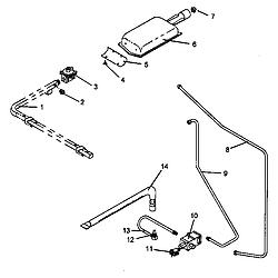 AGS761L Gas Range Gas components Parts diagram