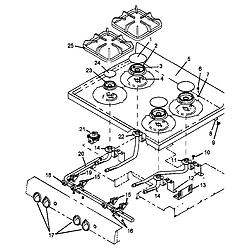 AGS761L Gas Range Sealed burner Parts diagram