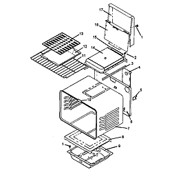 AGS781WW Self Cleaning, Frestanding Gas Range Cabinet assy Parts diagram
