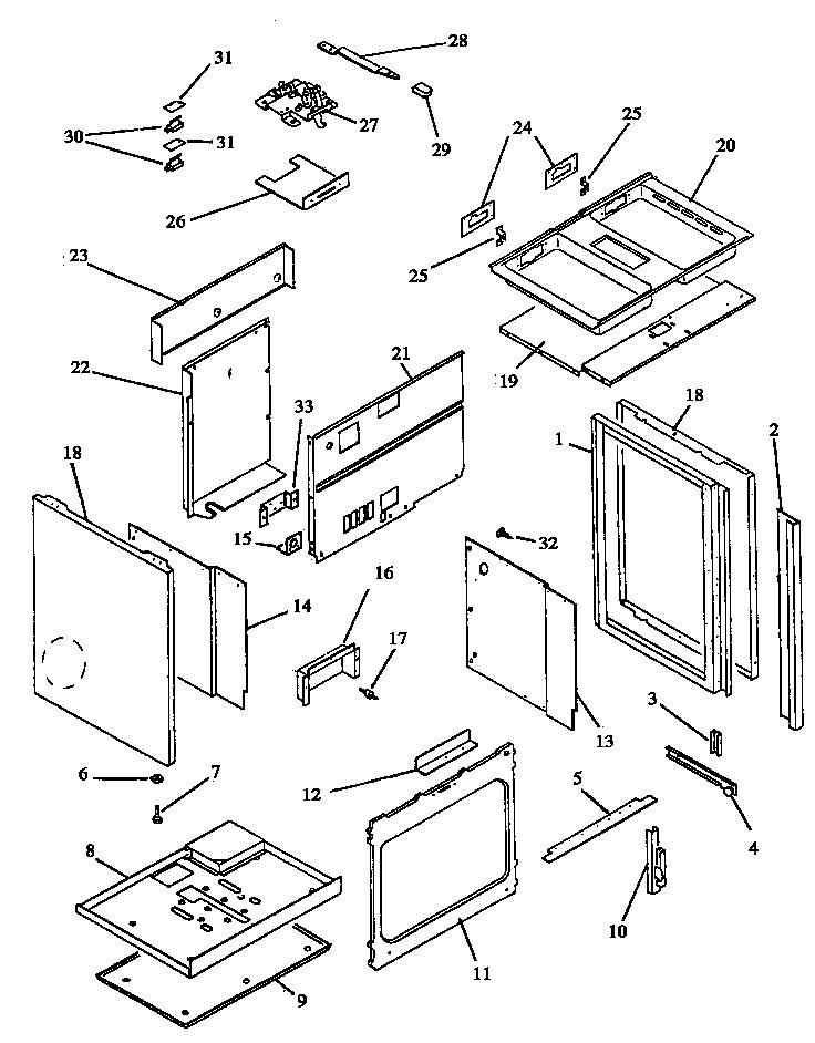 ards800e electric range cabinet assembly (ards800e/p1131920ne)  (ards800ww/p1131920nww) (