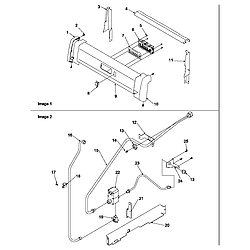 ARG7600LL Gas Range Backguard and gas supply Parts diagram