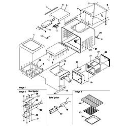 ARG7600LL Gas Range Cavity Parts diagram