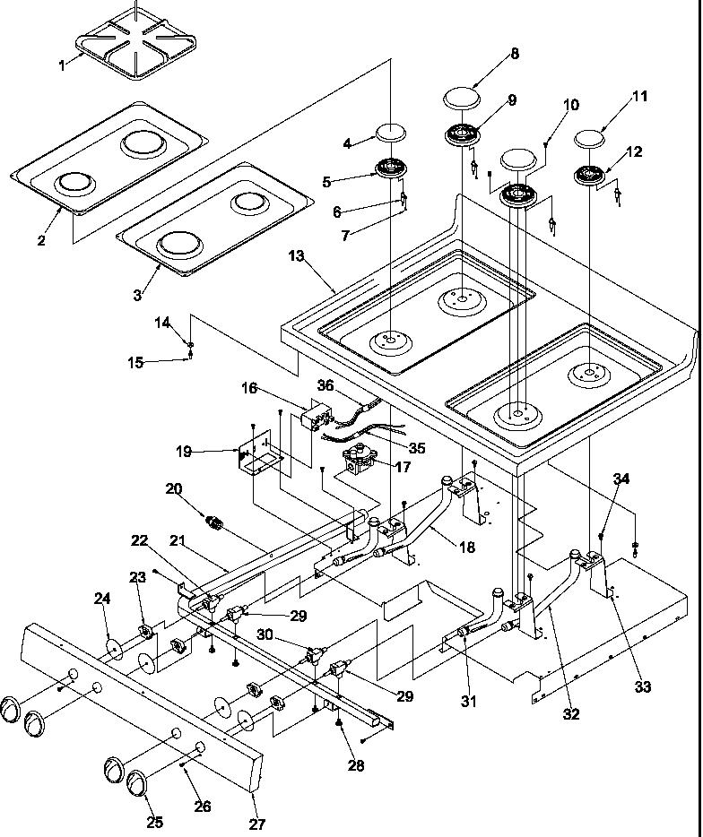 Arg7600ll Gas Range Main Top Parts Diagram: Amana Dryer Schematics Wiring At Ultimateadsites.com