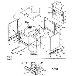 ARG7600WW Amana ARG7600WW Timer/Clock/ERC Cabinet Parts diagram