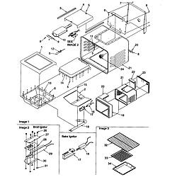 ARG7600WW Amana ARG7600WW Timer/Clock/ERC Cavity Parts diagram