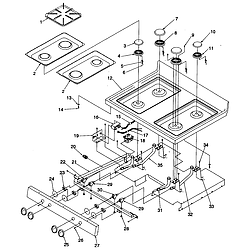 ARG7600WW Amana ARG7600WW Timer/Clock/ERC Main top Parts diagram
