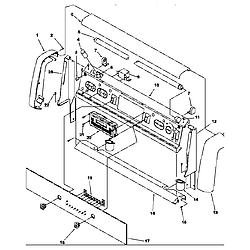 ARG7800LL Gas Range Backguard Parts diagram