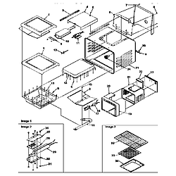 ARG7800LL Gas Range Cavity Parts diagram