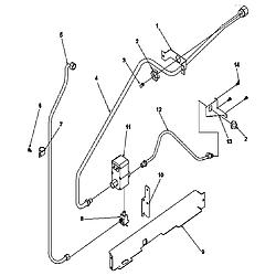 ARG7800LL Gas Range Gas supply Parts diagram