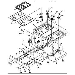 ARG7800LL Gas Range Main top Parts diagram