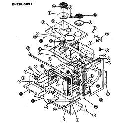 BNEA3H9TZ Range Body Parts diagram