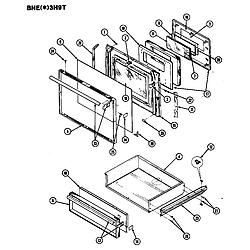 BNEA3H9TZ Range Door Parts diagram