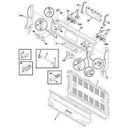 CFEF372CS2 Electric Range Backguard Parts diagram