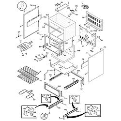 CFEF372CS2 Electric Range Body Parts diagram