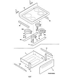 CFEF372CS2 Electric Range Top/drawer Parts diagram