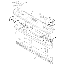CGES387CS1 Electric Range Backguard Parts diagram
