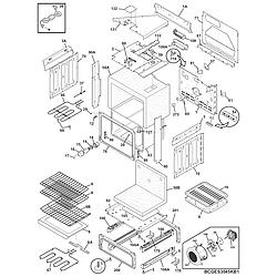 CGES387CS1 Electric Range Body Parts diagram