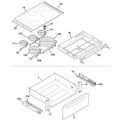 CGES387CS1 Electric Range Top/drawer Parts diagram