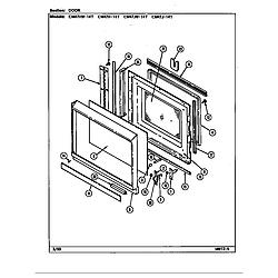 CM47JW14T Microwave Door Parts diagram
