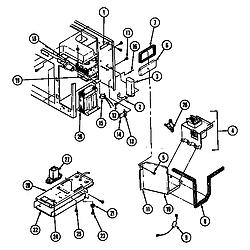 CM47JW14T Microwave Internal controls Parts diagram