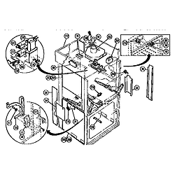 CMT21 Combination Oven Switches and additional Parts diagram