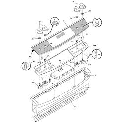 CPES389CC2 Range Backguard Parts diagram