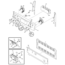 CPLEF398CCB Electric Range Backguard Parts diagram