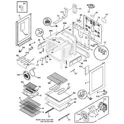 CPLEF398CCB Electric Range Body Parts diagram