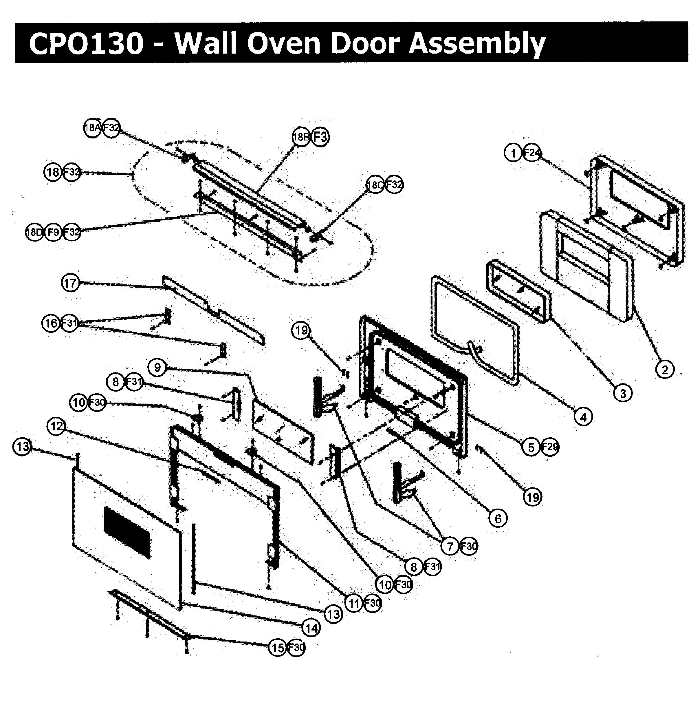 Dacor Cpo130 Wall Oven Timer