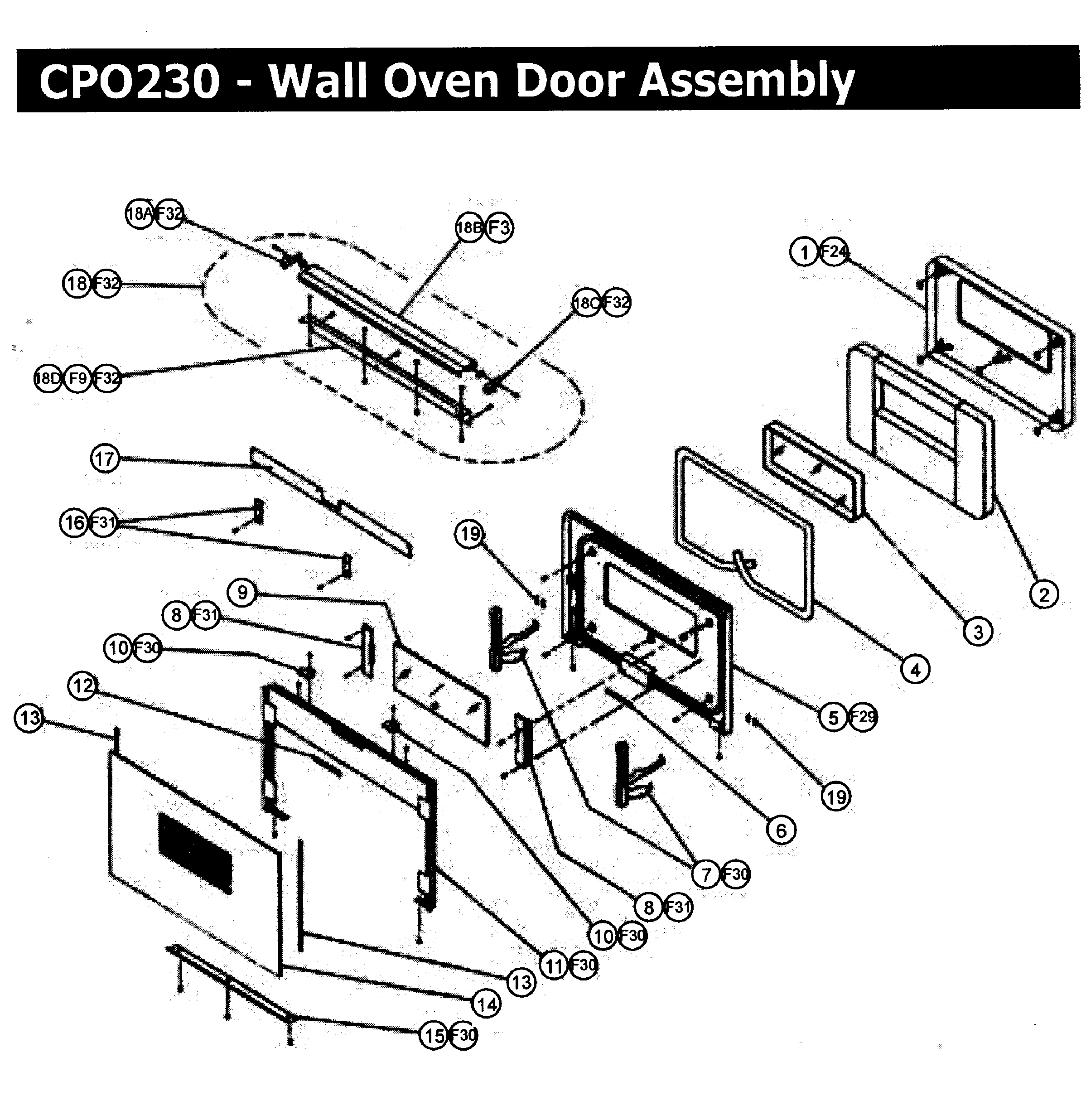 wiring diagram for dacor oven wiring diagram Maytag Stove Parts Diagram dacor cpo230 wall oven timer stove clocks and appliance timerscpo230 wall oven door assy parts diagram