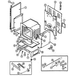 CRE9500ADW Range Body Parts diagram