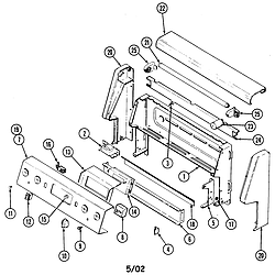 CRE9500ADW Range Control panel Parts diagram