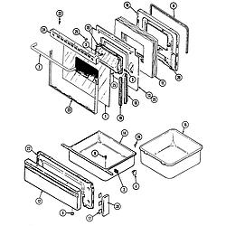 CRE9500ADW Range Door/drawer Parts diagram
