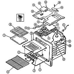 CRE9500ADW Range Oven Parts diagram