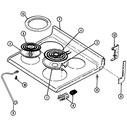 CRE9500ADW Range Top assembly Parts diagram