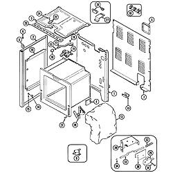 CRE9600 Range Body Parts diagram