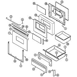 CRE9600 Range Door/drawer Parts diagram