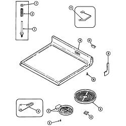 CRE9600 Range Top assembly Parts diagram