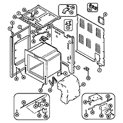 CRE9600ACL Range Body Parts diagram