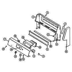 CRE9600ACL Range Control panel Parts diagram