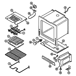 CRE9600ACL Range Oven/base Parts diagram