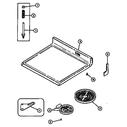 CRE9600ACL Range Top assembly Parts diagram